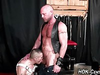 Big Bald Titan Ass Fucking A Twink