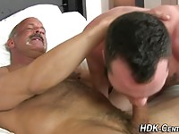 Old Man Taking Blowjob From Stud