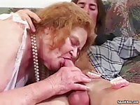 Real granny sucking and being toyed