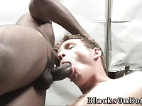 White guy gets dominated by two huge blacks