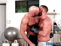 Strong guys fucking in the gym