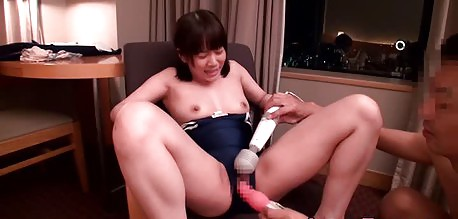 Curvy Japanese petite toyed and fucked for a facial