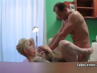 Horny doctor cums four times with two hot babes