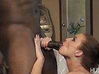 Horny police officer feels a big black cock in her pussy for the first time