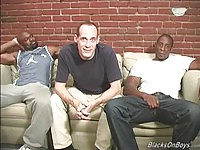Middle Aged Twink Rammed By Two Black Dude