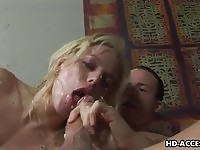 Angela Stone deepthroat action