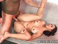Nakia Ty takes it deep in ass and pussy