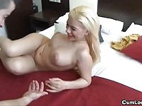 Blonde babe lured into sex by her cousin.