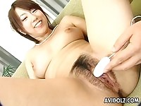 A sexy asian babe toyed