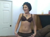 Sweet college chick pumped in POV