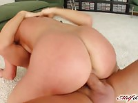 Lovely MILF Bel gets her twat filled up with two cocks