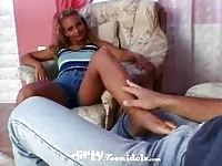 Tiffany Makes Cock Hard With Her Feet