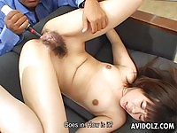 Yumi Takeda takes toys in all of her holes!