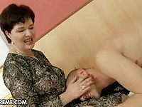 A mature housewife gets young dong