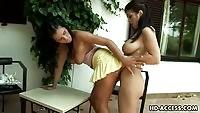 Busty Anya Giovana gets her pussy finger fucked