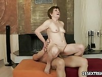 Young cock makes this granny happy!