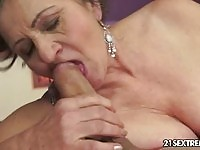 A dirty granny pumped by her son in law!